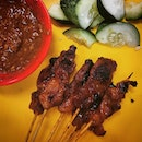 Trying the famous Chai Ho satay in Clementi!