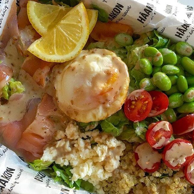 Missing the Salmon Salad ($10.90) at Haakon already!