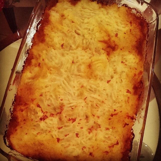 homecooked shepherd's pie made by @aileenstephanie!