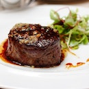 [Verre Modern Bistro & Wine Bar] - The Filet of Wagyu Beef ($62) is served with Truffle Fries.