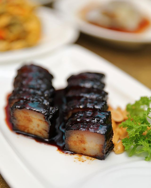 [Canton Paradise] - The BBQ Pork Belly with Honey Sauce ($22.80) is kind of unique here.