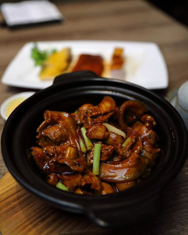 [Canton Paradise] - New found dish I like at the restaurant Wok Fried Pork Belly with Salted Fish in Claypot.