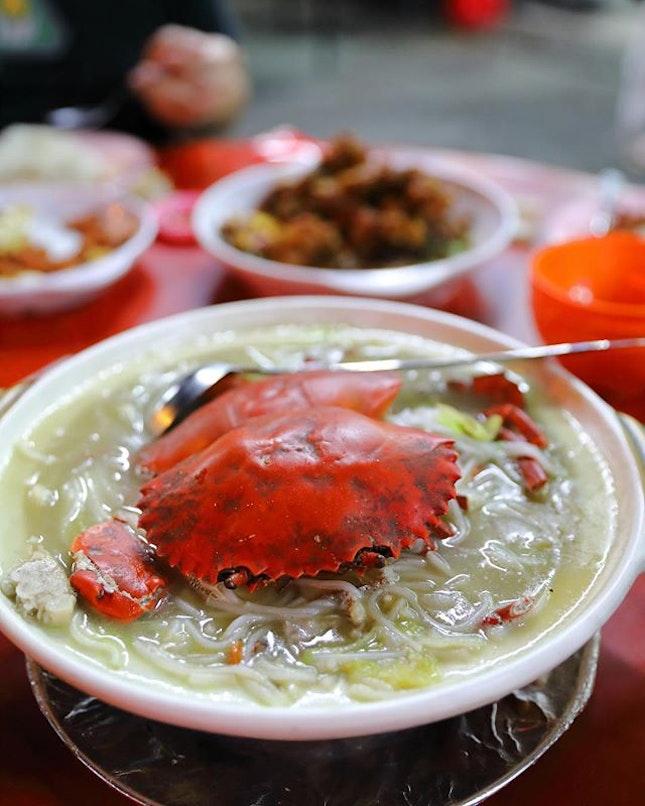 [Hong Kiat Seafood Restaurant] - Crab Bee Hoon.