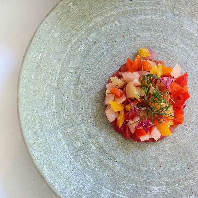 [Lewin Terrace] - Cured Salmon with Pickled Vegetables.