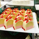 [Goodwood Park Hotel] - Enlivened with the sweet scent of strawberries is the D24 Strawberry Bliss ($16 neet per piece / $68 nett per cake, 700g) that features a lavish and creamy D24 durian pulp.