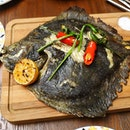 [15 Stamford by Alvin Leung] - One of my favourite dishes is the chargrilled whole Turbot ($120).