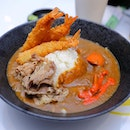 [Sora Boru] - If you want something more filling, you can go for the CurryBoru which can be paired with a choice of deep-fried meat or seafood, such as Chicken Katsu ($6.50/$10.90), Breaded Ebi ($6.50/$10.90).