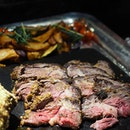 [Ash & Elm] - Slow Roasted Herb Crusted Beef Ribeye was well seasoned and perfectly executed, from the Roasts Station.
