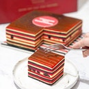 [Conrad] - In celebration of SIngapore's upcoming Bicentennial Anniversary, @conradsingapore launches a specially curated Bandung with Bubble Tea Pearl Kueh Lapis, comprising of 3 colours - Red, White and Black to represent the colours used in the nation's Bicentennial Logo.
