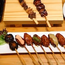 [Amazing Hokkaido] - Known as the birthplace of yakitori, the Melty 7 Kinds of Tsukune ($28.90++) features 7 different skewers with a variety of toppings such as mentai mayo, fondue cheese and wasabi for that extra kick.