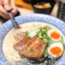 [So Ramen] - The Grand Tonkotsu ($13.90) consists of Toroniku (braised pork cheek), Cha Shu and Buta Kakuni (braised pork belly in special sauce), Ni Tamago and Menma (bamboo shoot).