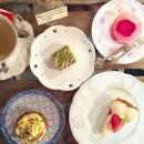 Ispahan / Pistachio Butter Filled Matcha Cupcake / Matcha Brownie/ Yoghurt Tart