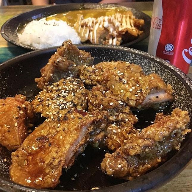 Soy sauce boneless half chicken ($22)