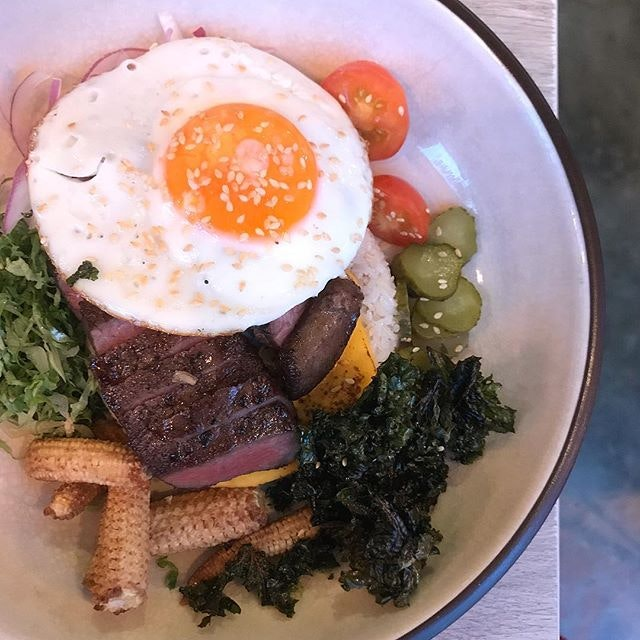 """Wagyu Big Mac Fried Rice ($32) - essentially a deconstructed """"burger-inspired"""" fried rice."""