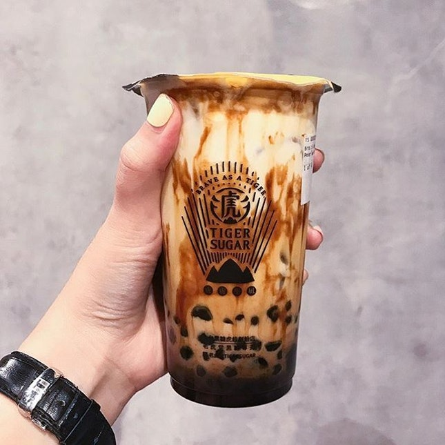 Brown Sugar Boba+ Pearl with Cream Mousse ($5.30) - relatively shorter queue so I gave in.