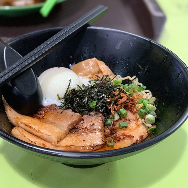 Cha Shu Dry Ramen ($6)