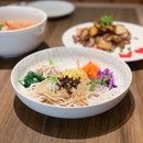 Tossed Rice Noodles with Shredded Chicken ($12.90)