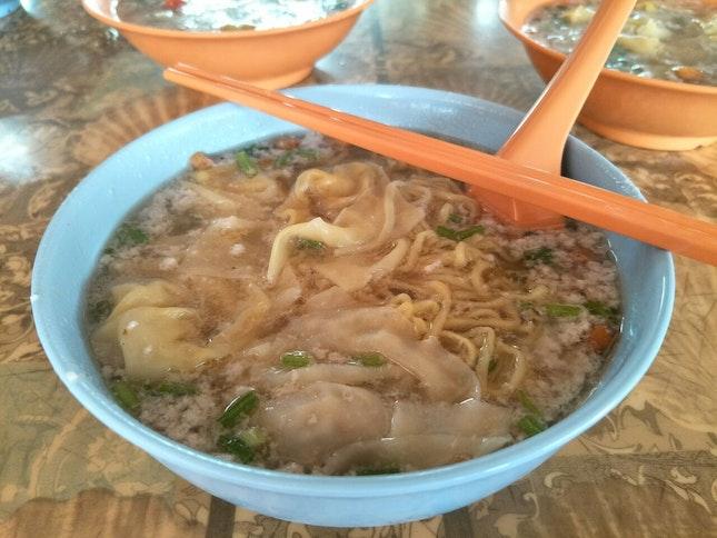 Minced Meat Noodle Soup ($3.50)