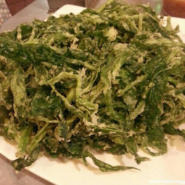 Deep Fried Kang Kong Vegetables