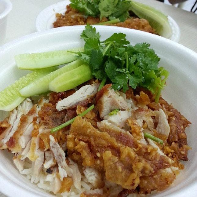 35 Baht chicken cutlet rice