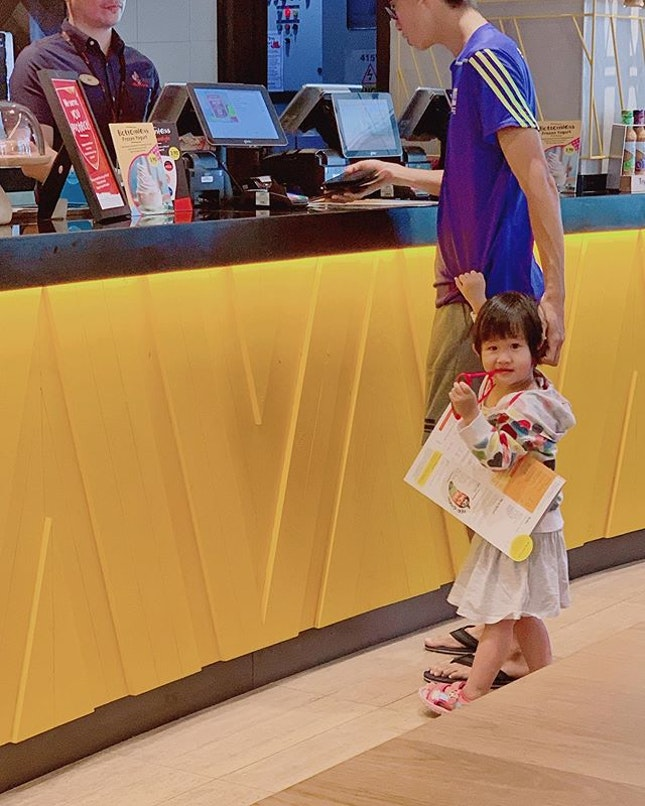Brought the two little ones out today to run some errands and went to eat at Nandos Bugis Junction!