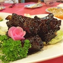 Cappuccino Pork Ribs with the old school wafer flower.