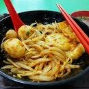 Malaysia Style Fishball Noodles ($4.50)