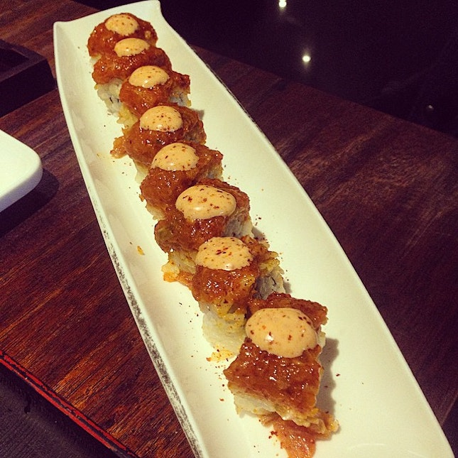 Spicy Salmon Belly Roll #food