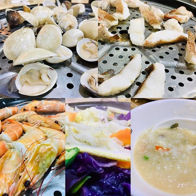 Delicious seafood dinner at Fish Market Restaurant.
