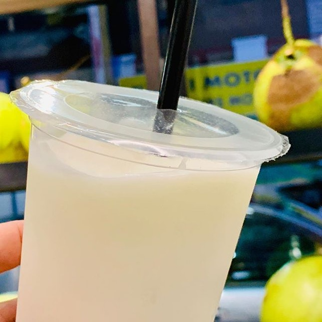 Coconut shake at The Royal Coconut.
