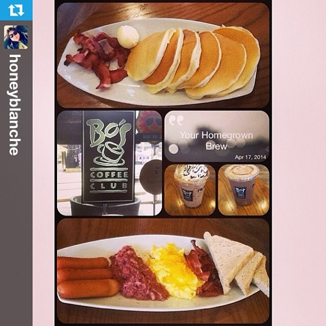 #Repost from @honeyblanche with @repostapp --- #breakfast #pancakes with @hazelbeverly08 ☕️🍞