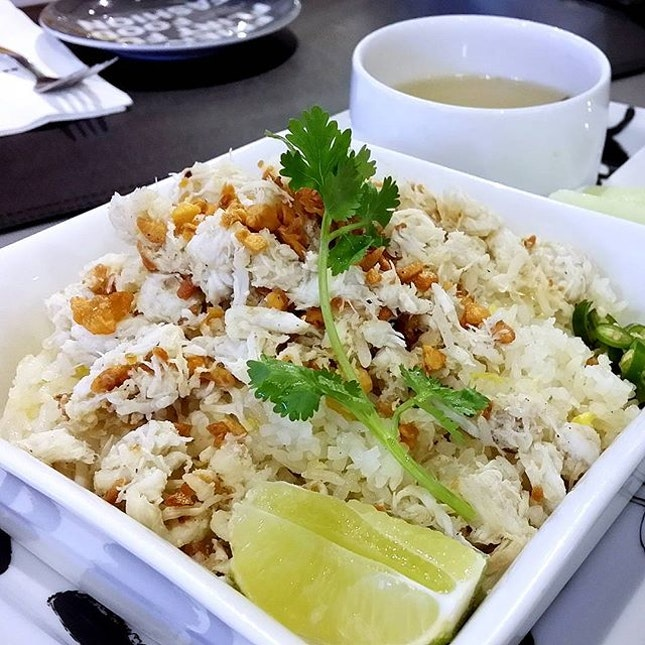 Super in love with this Crab Meat Fried Rice.