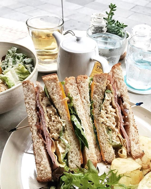 Love Club Sandwiches from #PriveOrchard because they are made up of everything I love- turkey ham, bacon, egg mayo, chicken breast and cheddar!