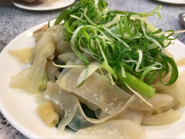 Blanched Goose Intestines