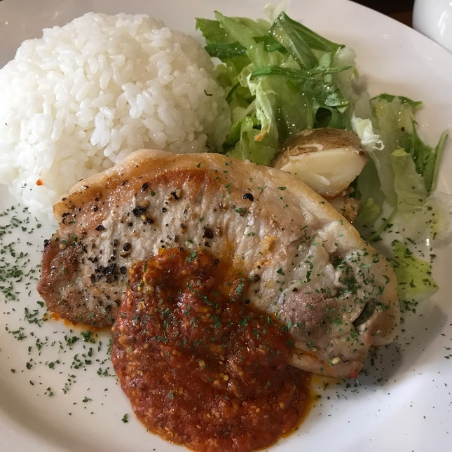 Grilled Kamikawa Pork Steak With Rice