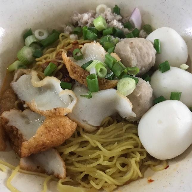 Fishball & Minced Pork Noodles