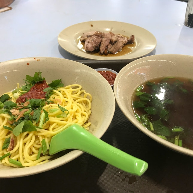 Braised Duck Drumstick Noodles.