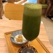 Matcha Nitro Drink With Warabimochi