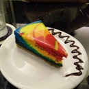 A #slice of #rainbow, this #rainbowcheesecake was the #dessert #topup at 2.50 SGD to the #setmeal.