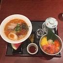 Spicy Ramen & Salmon Rice Bowl
