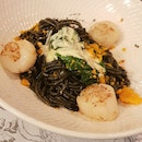 Squid Ink Salted Egg Pasta