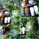 Done grocery shopping for my 2week worth of greens ♥ plus the buy1take1 promo on whiskey snd wine!