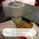 Having Whopper Junior BOT meal as my #supper....