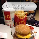 Having up sized Grand Twilight Burger set meal for $9.55 as my #supper….