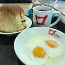 Having #KayaButterBunSet A as my #breakfast since 07:14hrs #burpple