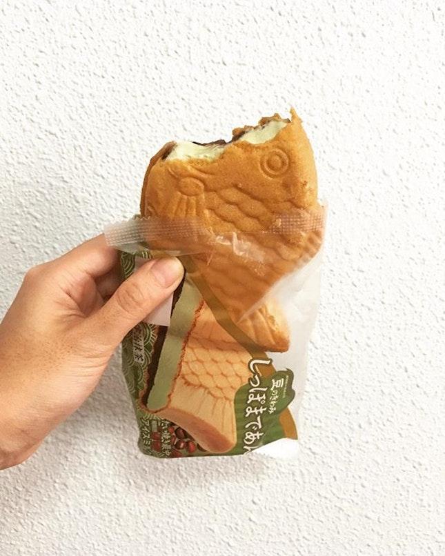 Taiyaki Ice cream Uji Matcha.