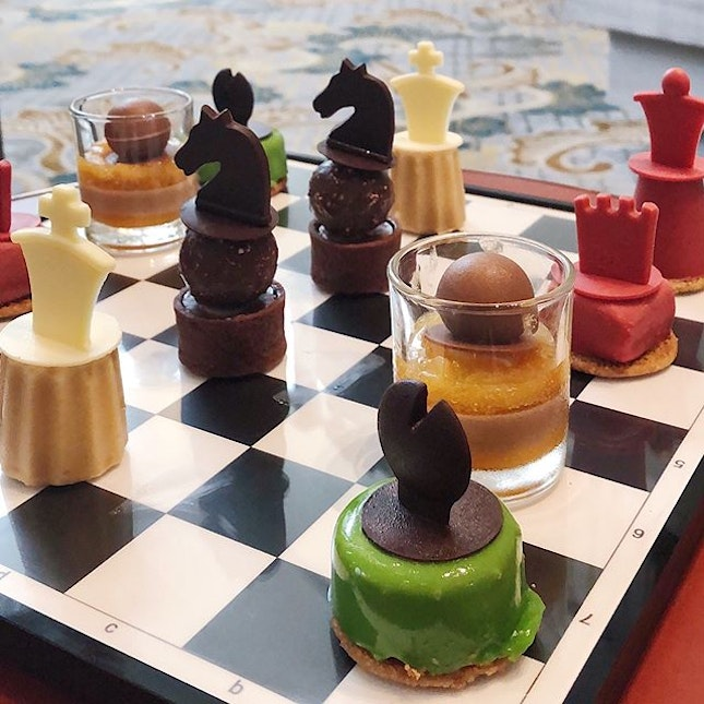 Festive Checkmate Afternoon Tea.