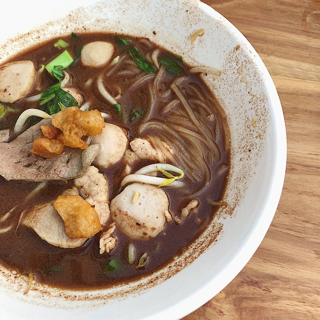 Thai boat noodles, choice of Pork or Beef ($3.90/small, $6.90/regular)