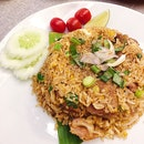 Isaan Spicy Grilled Pork Neck Fried Rice ($13.50).