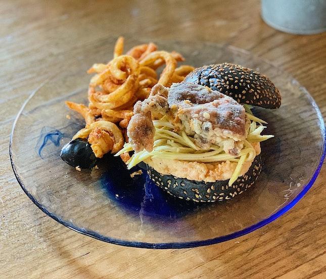 Soft Shell Crab Burger ($25).